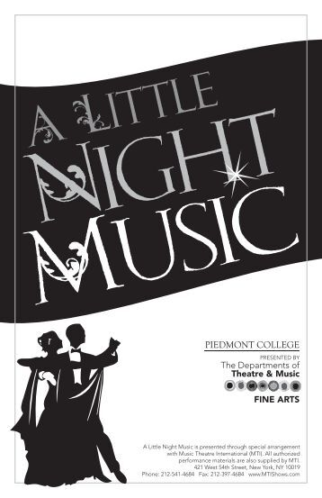 Night Music program.indd - Piedmont College