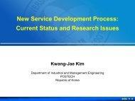 New Service Development (NSD)