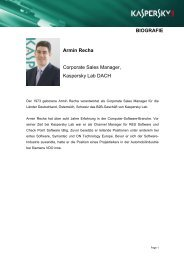 Armin Recha - Kaspersky Lab – Newsroom Europe.