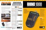 RHINO 1000 leaflet - DYMO