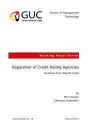 Regulation of Credit Rating Agencies - Faculty of Management ...