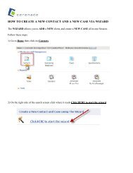 how to create a new contact and a new case via wizard - Cerenade