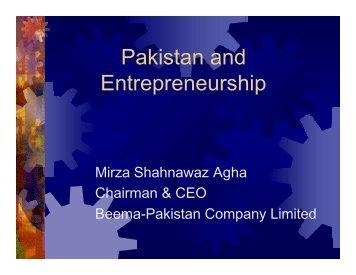 Beema Pakistan Pakistan and Entrepreneurship-ICIP1 - ITIF Asia