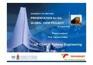 UP Chair In Railway Engineering – UIC