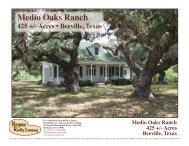 Medio Oaks Ranch - Haynes Realty
