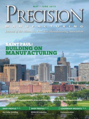 JUNE 2013 - Minnesota Precision Manufacturing Association