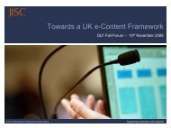 Towards a UK e-Content Framework - Digital Library Federation
