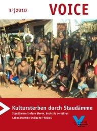 Download: VOICE 3/2010 - Gesellschaft für bedrohte Völker