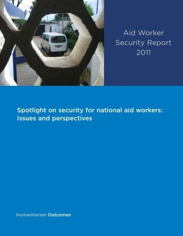 Spotlight on security for national aid workers: Issues and perspectives