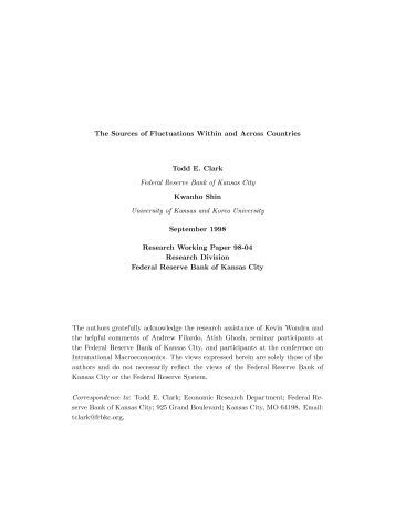 The Sources of Fluctuations Within and Across Countries - Federal ...