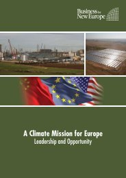 A Climate Mission for Europe: Leadership and Opportunity