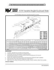 VOGT 8150 Variable-Height Keyboard Slide - Rockler.com