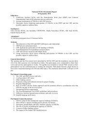 CHF National NGOs Orientation Report - OCHANet