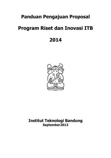 Panduan Riset ITB 2014 - Lembaga Penelitian dan Pengabdian ...