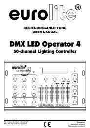 EUROLITE DMX LED Operator 1 User Manual - Ljudia