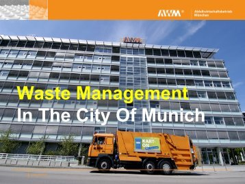Waste Management In The City Of Munich