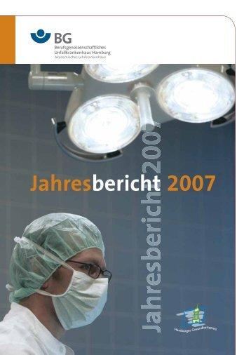 Jahresbericht 2007 - 2 MB - Berufsgenossenschaftliches ...