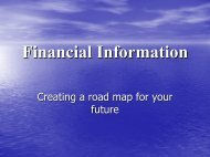 Financial Information Tutorial PowerPoint