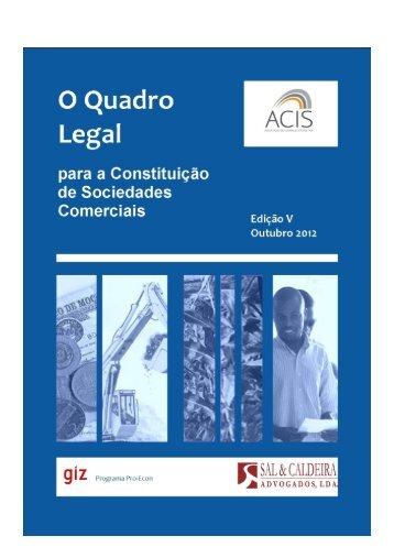 O Quadro Legal Sobre a Constituição de Empresas em ... - ACIS