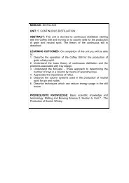 Unit 5 - Continuous Distillation - School of Life Sciences