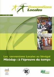 Mai 2009 - Les conventions Locales au Sénégal Mbédap - IED afrique