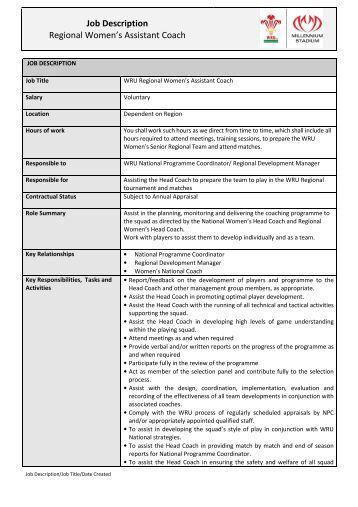 1st XI Cricket Coach Job Description - The Professional ...