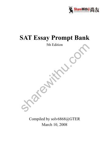 ap literature sample essay prompts sat