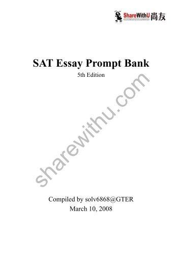 10 SAT ESSAY PROMPTS - Ivy Global
