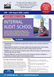 INTERNAL AUDIT SCHOOL - MIS Training