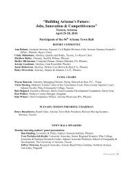 List of Attendees - Arizona Town Hall