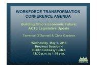 WORKFORCE TRANSFORMATION CONFERENCE ... - Ohio ACTE