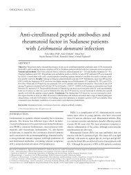 Anti-citrullinated peptide antibodies and rheumatoid factor ... - panlar