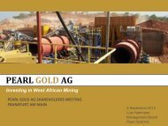 Investing in West African Mining - Pearl Gold AG