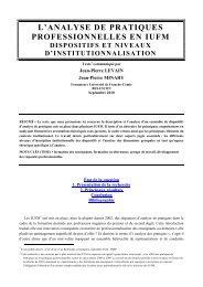 L'analyse de pratiques en IUFM - SITE Patrick ROBO - Free