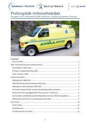 Årsrapport Prehospital klinikk 2010 - Sykehuset Telemark