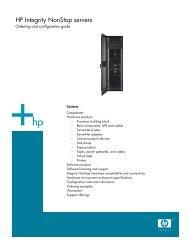 HP Integrity NonStop Servers - Hewlett-Packard