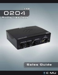 E-MU 0204 Sales Guide