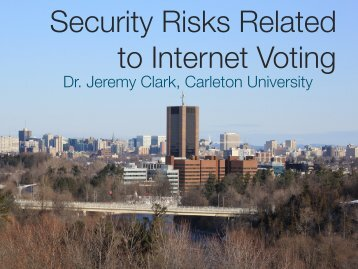 Security Risks Related to Internet Voting - Carleton University