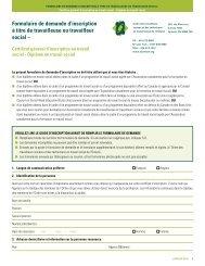 Certificat général d'inscription en travail social - Ontario College of ...