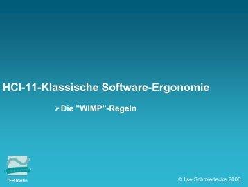 HCI-11-WIMP-Ergonomie [Kompatibilitätsmodus] - schmiedecke.info