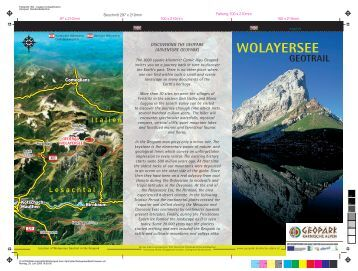 WOLAYERSEE - Geopark Karnische Alpen