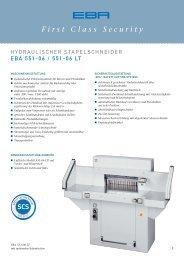 Hydraulischer Stapelschneider EBA 551-06 / EBA 551-06 LT
