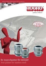 Flyer Edelstahlverschraubungen - HUGRO-Armaturen GmbH