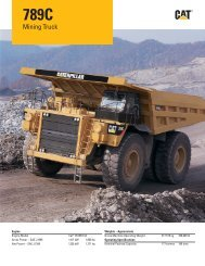Specalog for 789C Mining Truck AEHQ6167