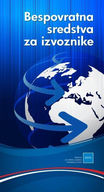 Bespovratna sredstva za izvoznike - brošura - Siepa