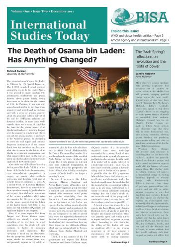 Volume 1 Issue 2 December 2011 - the British International Studies ...