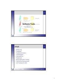 Software-Tests Inhalt - Telematik TH Wildau