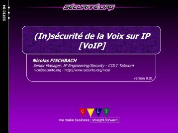 Nicolas FISCHBACH - Actes du SSTIC
