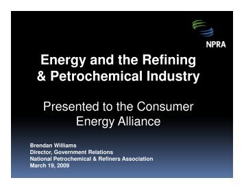 Energy and the Refining & Petrochemical Industry - Consumer ...