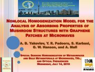 nonlocal homogenization model for the analysis of absorbing ...